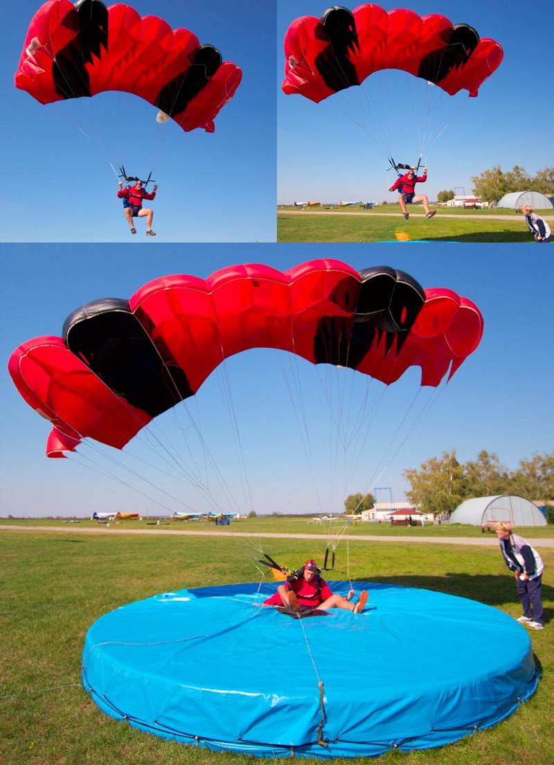 Slijetanje...  Foto: cacan  Ključne riječi: padobranci memorijal zrakoplovaca padobranac