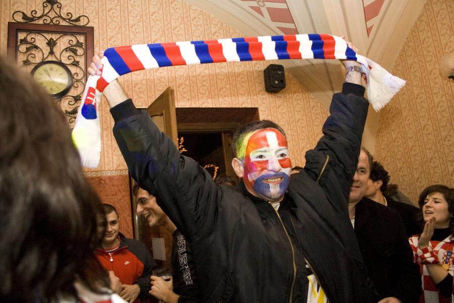 SP 2009  Foto: Daniel Antunović  Ključne riječi: svjetsko rukometno prvenstvo utakmica dvorana navijaci
