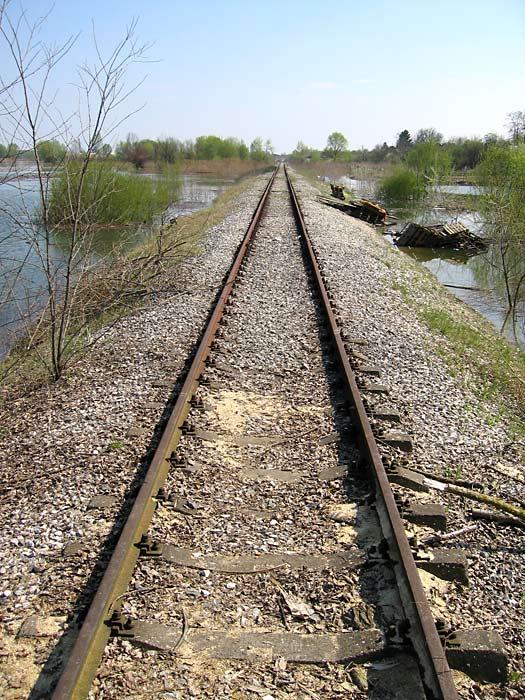 Pruga prema...  ...hm, nigdje?!  Zeleno polje Photo: Steam  Ključne riječi: osijek poplava