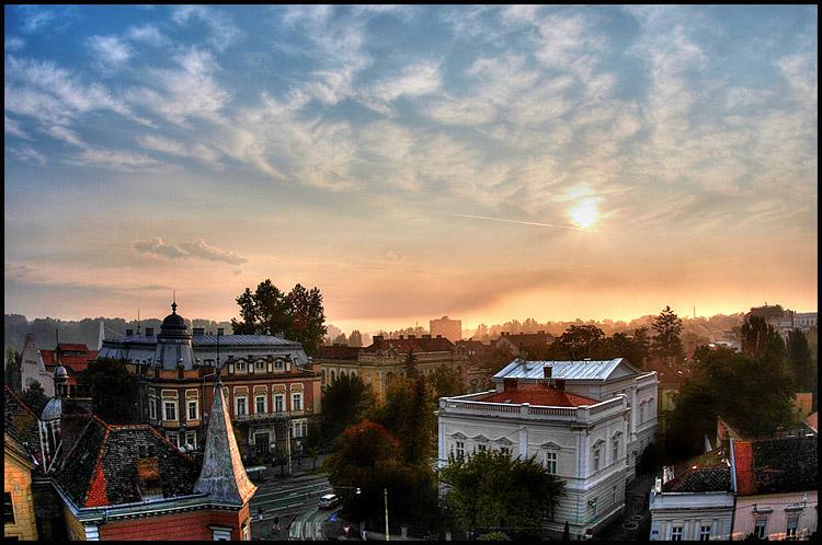 Požarno jutro  Foto: Samir  Ključne riječi: osijek jutro svitanje