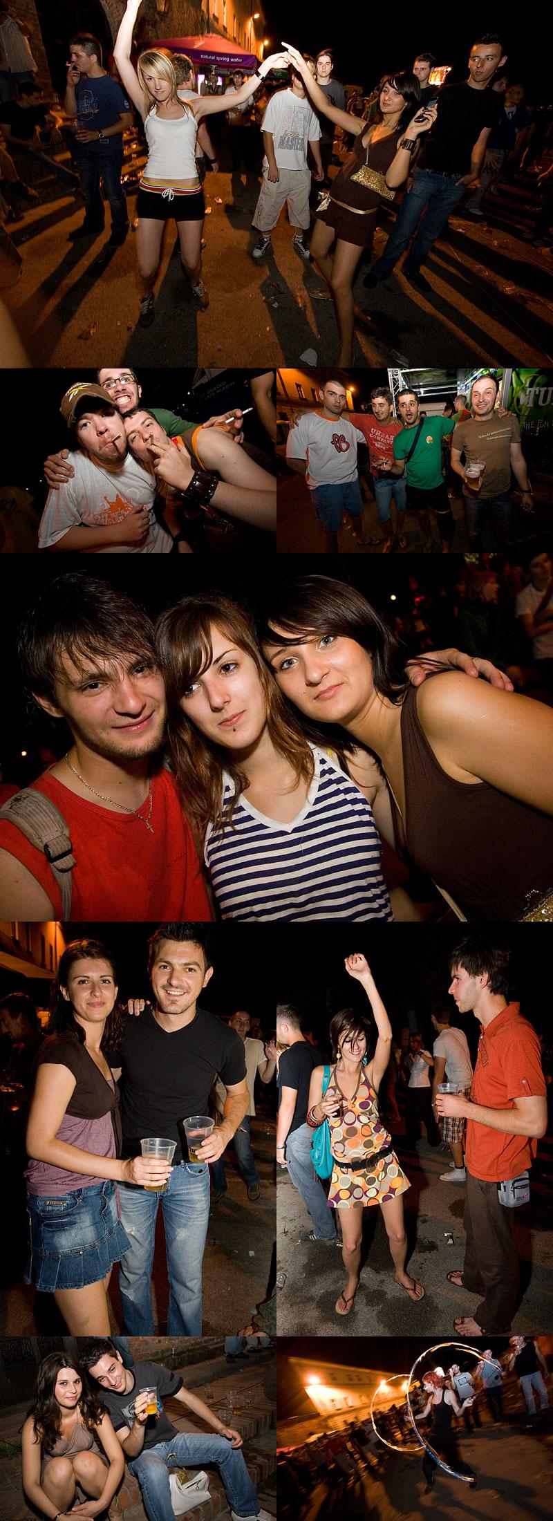 Osječko ljeto mladih - Party (kolaž)  Ovako je bilo u petak.  Foto: steam  Ključne riječi: OLJM party