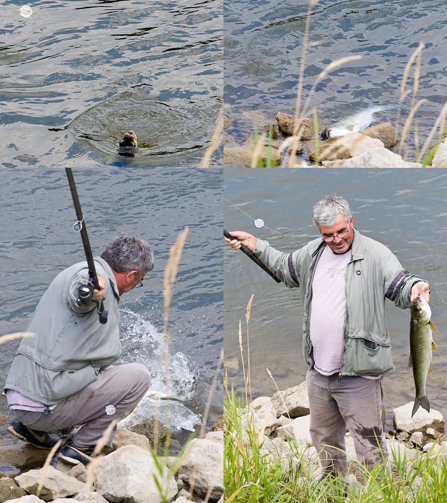 Starac i more  Ulov na promenadi.  Foto: steam  Ključne riječi: pecaros riba promenada