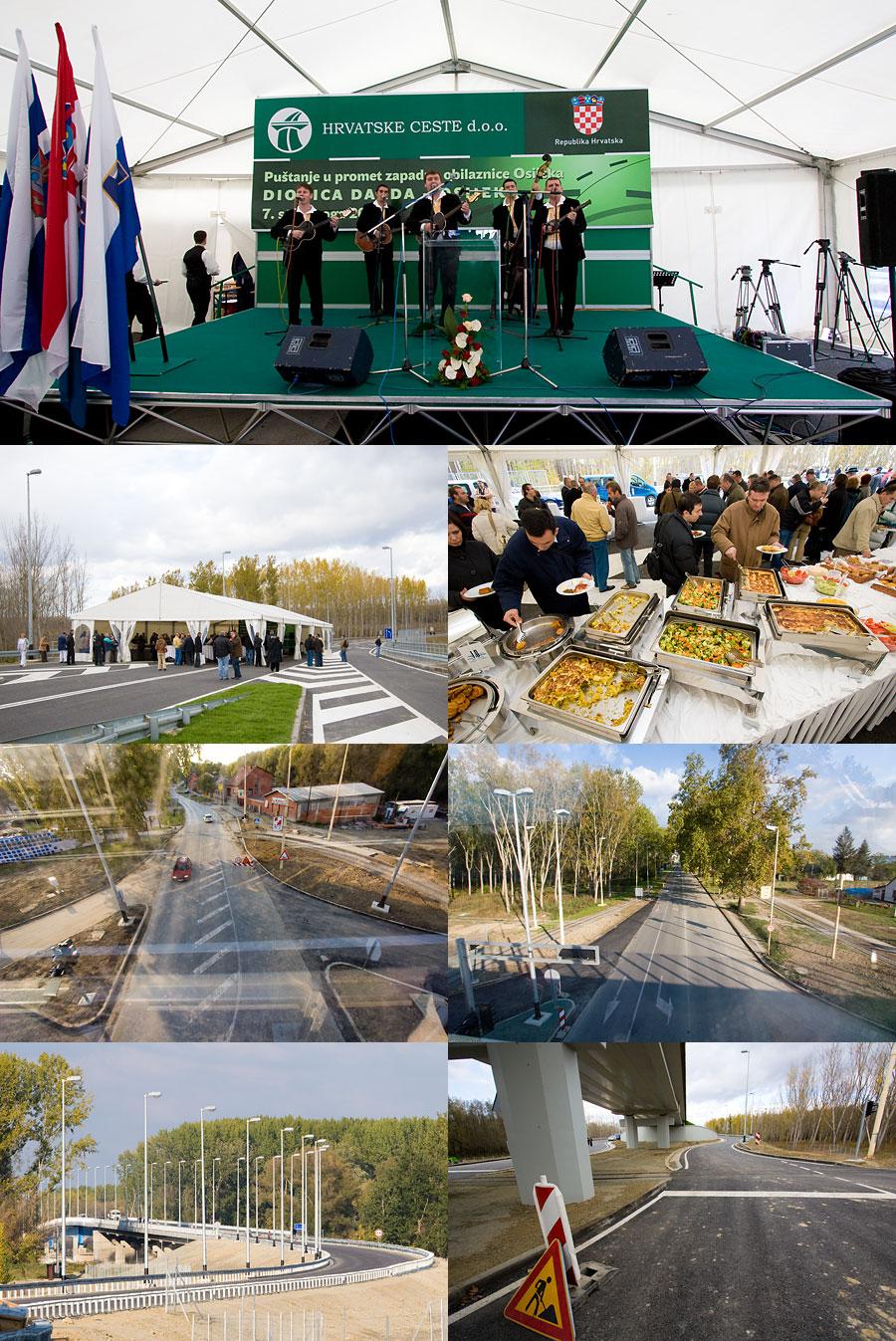 Zapadna obilaznica - puštanje u promet  Hrvatske ceste jučer su organizirale svečanost i domjenak za uzvanike povodom puštanja u promet zapadne osječke obilaznice - ceste Osijek-Darda.  Iako je cesta jučer službeno puštena u promet,