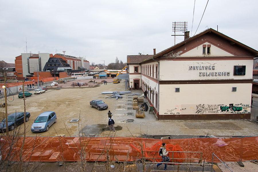Kolodvor - obnova parkirališta  Foto: steam  Ključne riječi: kolodvor obnova