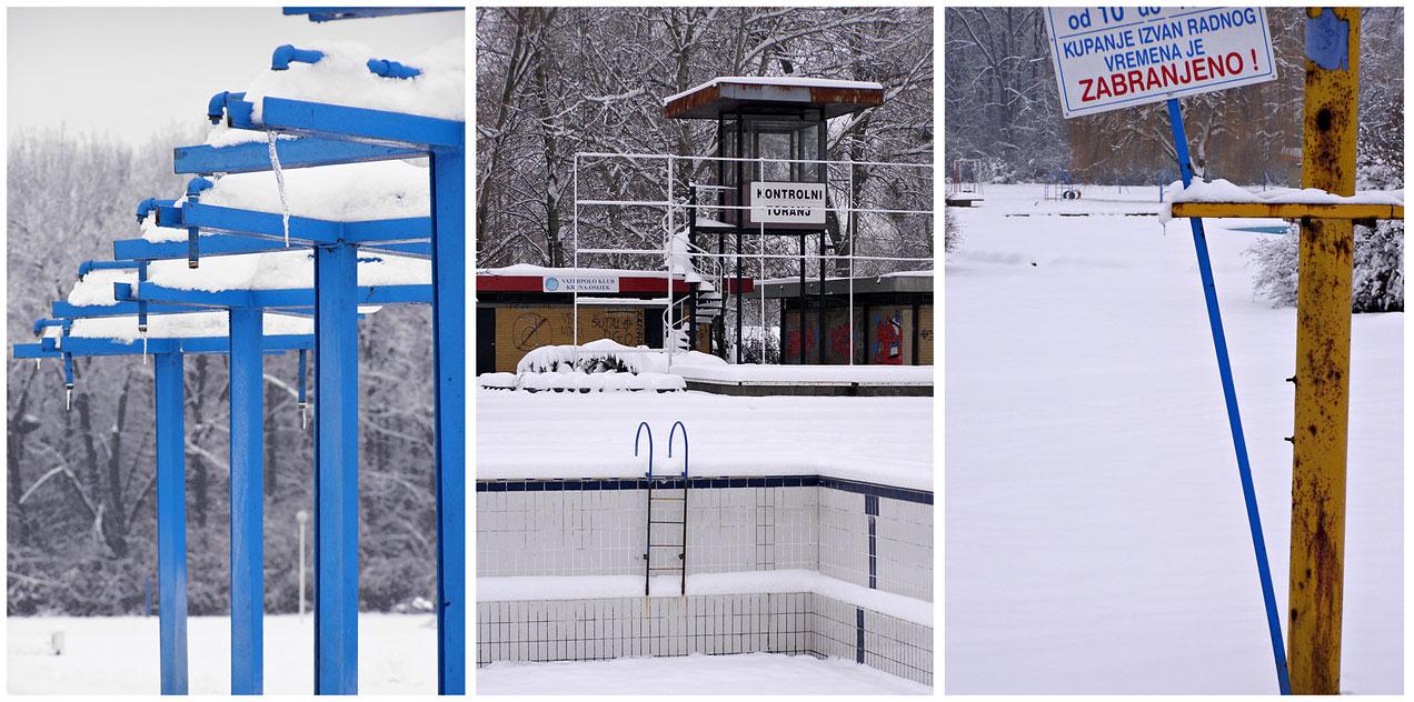 Zima na bazenima  Foto: [url=http://www.mojosijek.deviantart.com/]Domagoj Sajter[/url]  Ključne riječi: zima snijeg bazeni