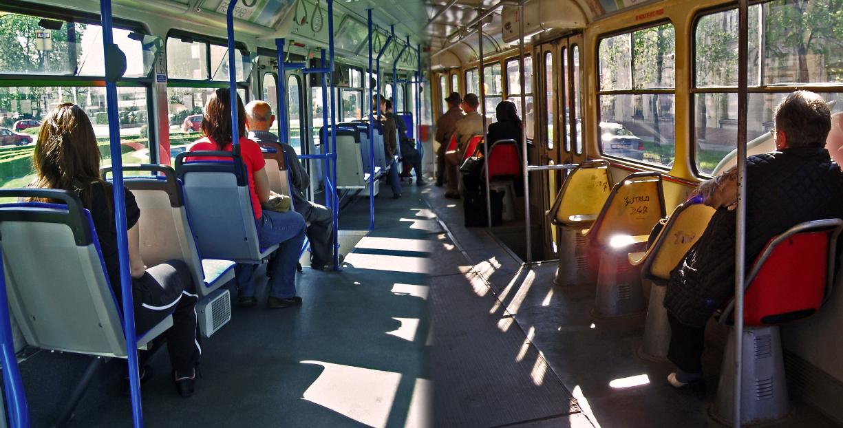 Novi vs. stari tramvaj  Foto: [url=http://www.mojosijek.deviantart.com/]Domagoj Sajter[/url]  Ključne riječi: tramvaj