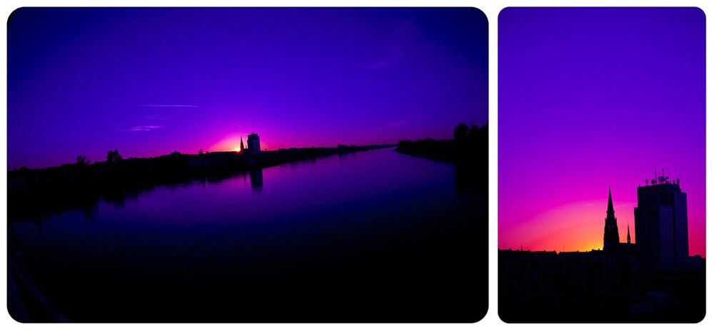 Purple Sunset  foto: Tomislav Šilovinac Šiki  Ključne riječi: osijek sunset