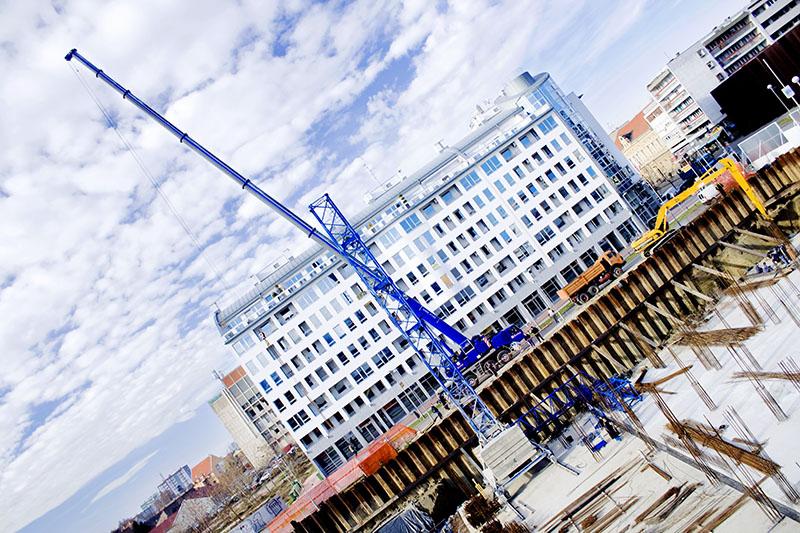Dizalica  Foto: Isis  Ključne riječi: kappa gradiliste dizalica temelj