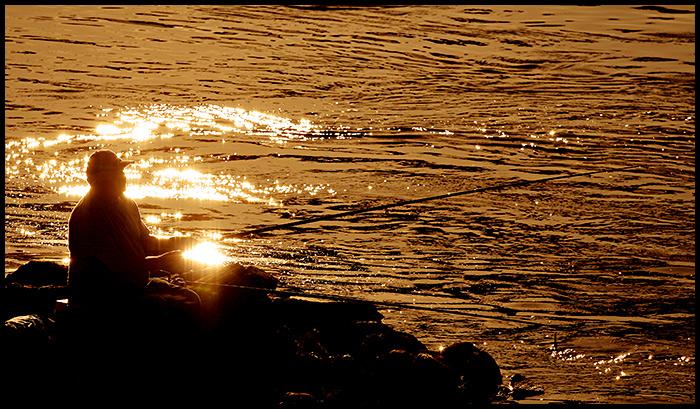 Ribolovac  Photo: Ivan Sekol  Ključne riječi: ivan sekol osijek drava ribolovac pecanje