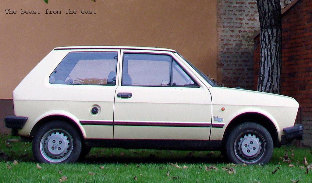 The beast from the east  Yugo 45, 1987. g. 45 KS max. brzina s 5 (pet) osoba: 147 km/h   Ključne riječi: yugo 45 km/h KS sve i svašta