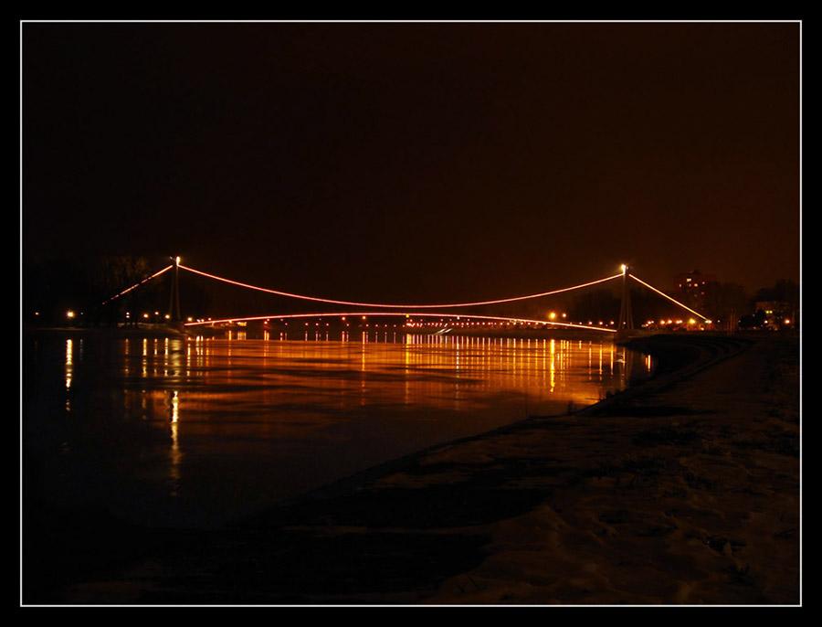 Most  Ključne riječi: osijek most drava noć sumrak mrak