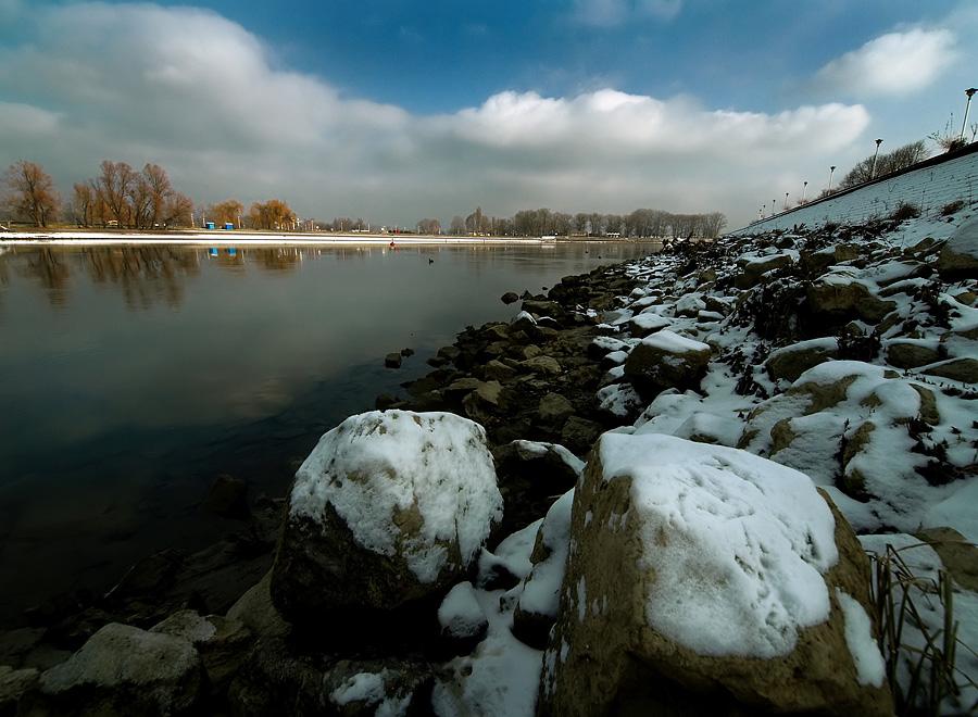 Zima na obali  Foto: Jasmina Gorjanski  Ključne riječi: obala zima snijeg