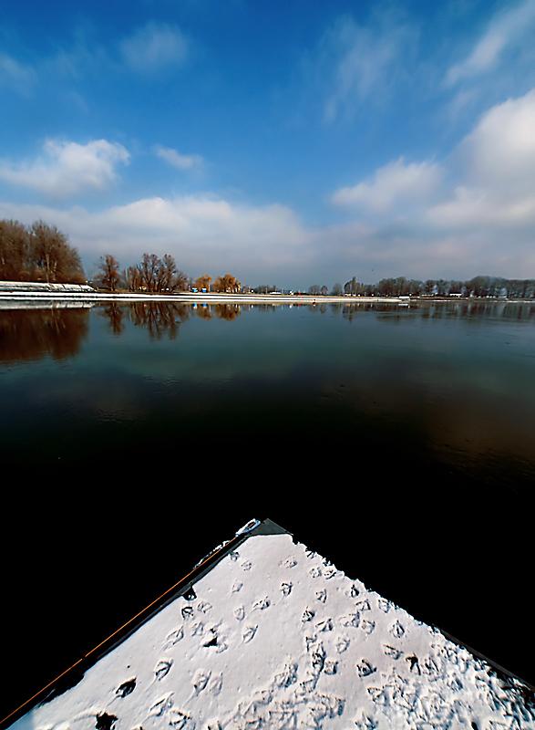 Zima na rijeci  Foto: Jasmina Gorjanski  Ključne riječi: zima rijeka drava