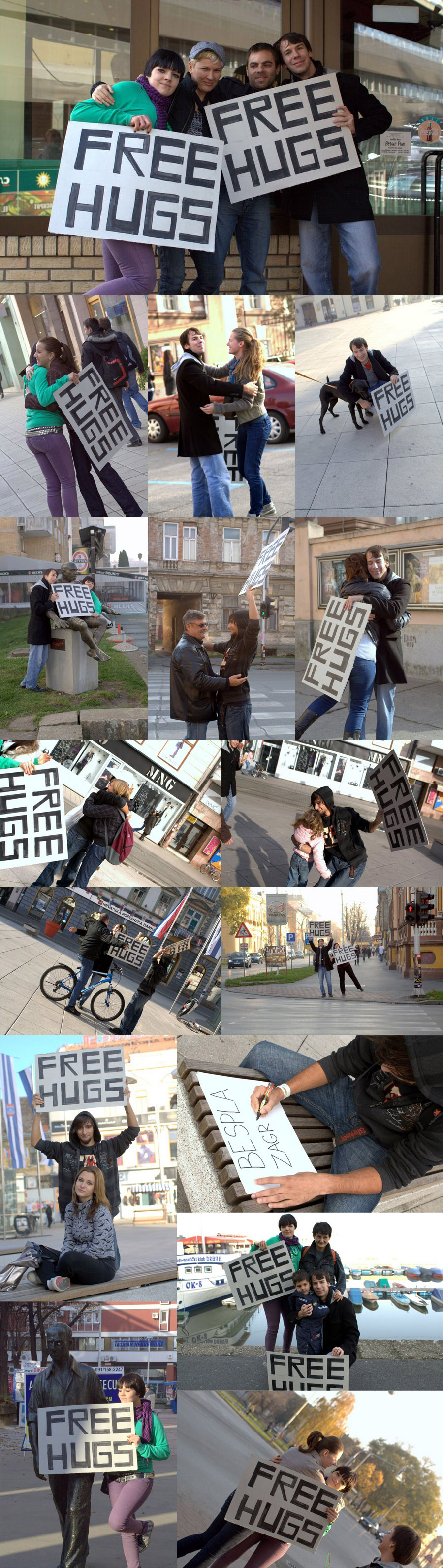 'Free Hugs' day  [url=http://www.osijek031.com/osijek.php?najava_id=22548]Trg: 'Free Hugs' day[/url]  Foto: [b]Igor Košćak[/b]  Ključne riječi: free-hugs