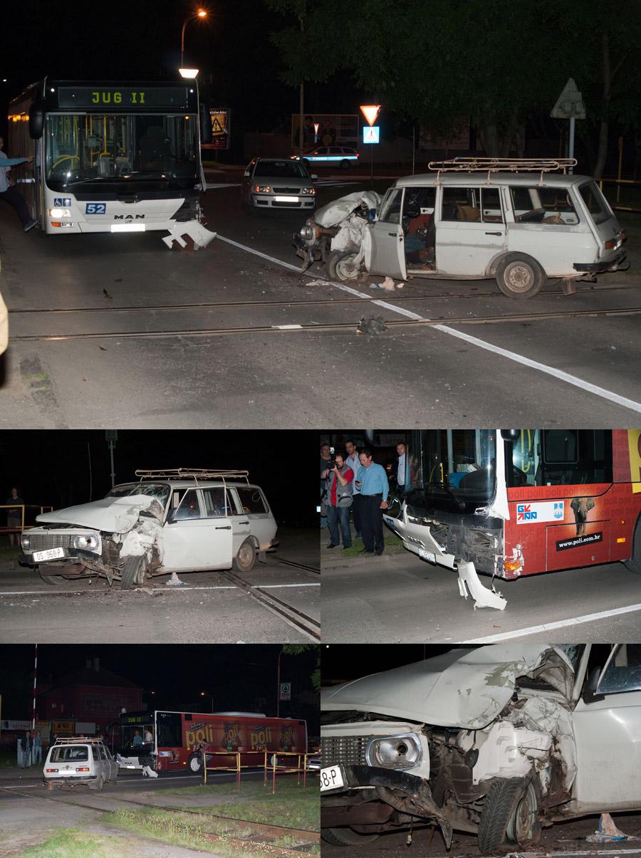 Prometna nesreća  Prometna nesreća na raskrižju Vukovarske i Svačićeve.   - [i]