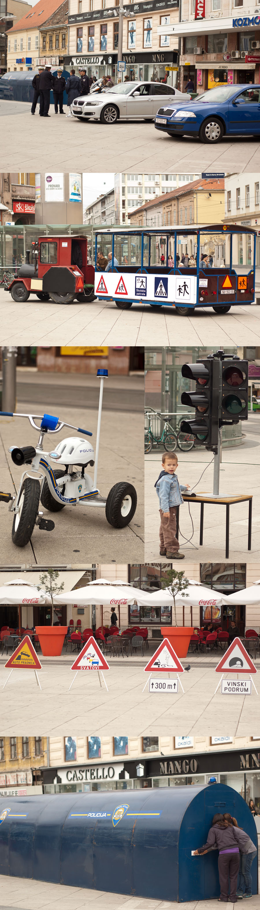 Poštujte naše znakove  foto: [b]Ante Delač[/b]  Ključne riječi: trg mup prezentacija prometni znakovi