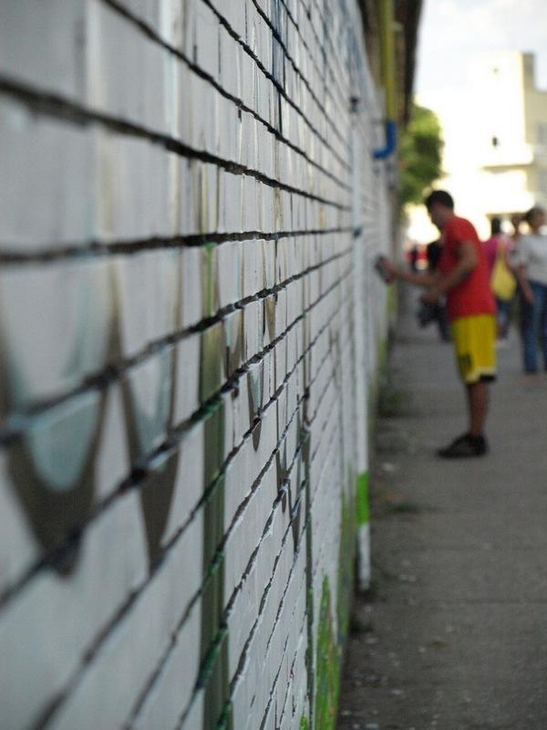 Grafit art  Zemlja bez granica, Kao oblak 2008.   Ključne riječi: osijek