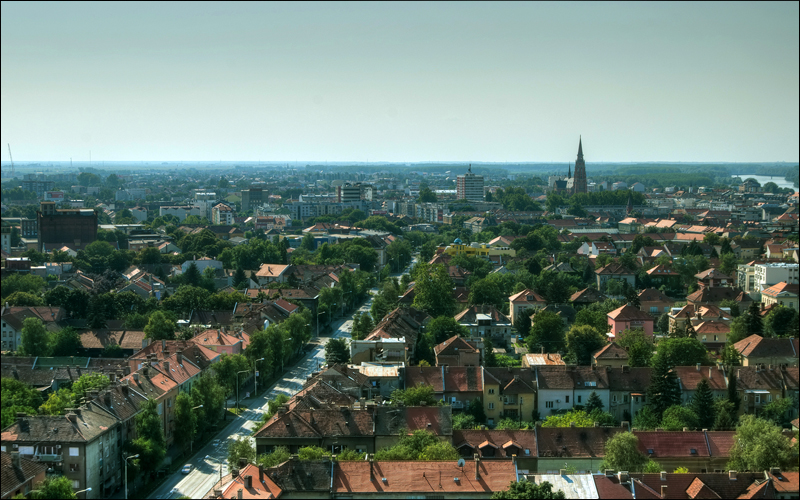 Cityscape  Pogled s Eurodoma  Foto: [b]Sebastijan Dumančić [/b]  Ključne riječi: osijek katedrala eurodom
