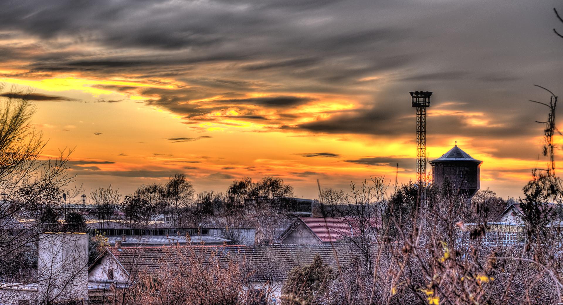 Mrazovito jutro  Foto: Marin Lončar  Ključne riječi: mraz jutro nebo