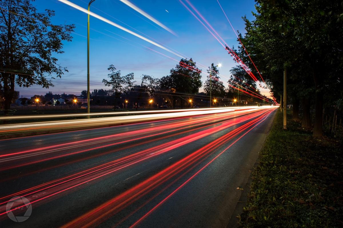 U prolazu Vukovarskom  Foto: Vedran Ristić  Ključne riječi: Cesta Voznja Noc