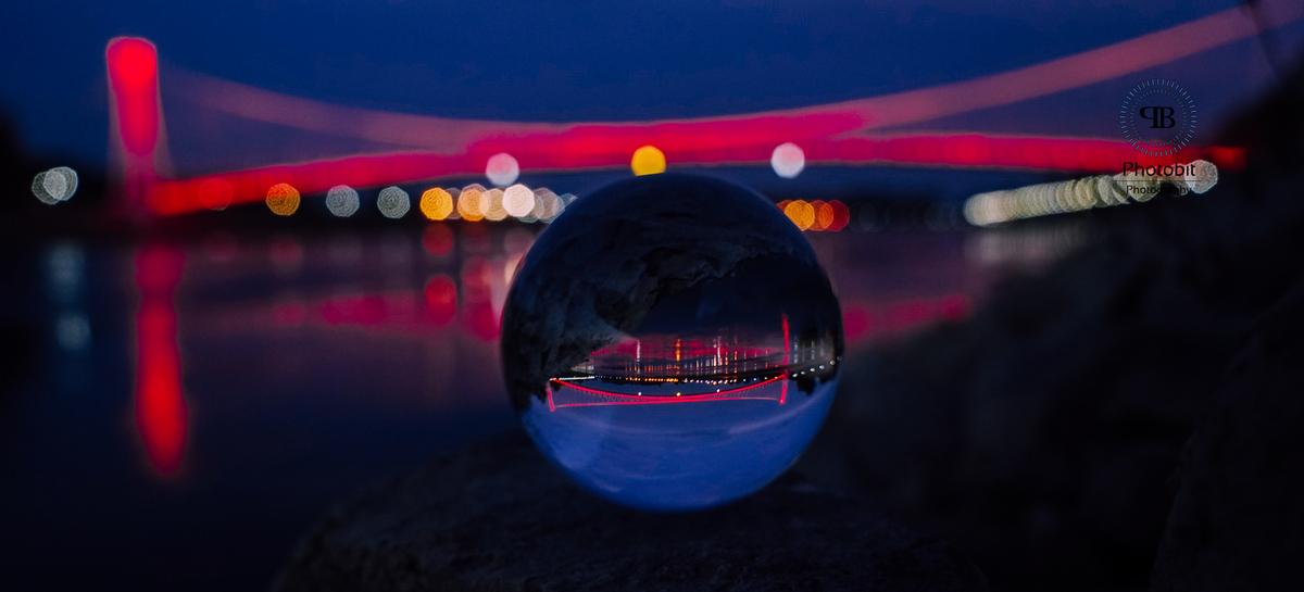 Noćna  Foto: Vladimir Tolj  Ključne riječi: Kugla Most Priroda Noc