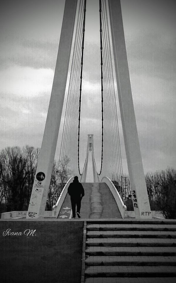 Pješački most  Foto: Ivana Modrić  Ključne riječi: Most Covjek Priroda Pjesacki most