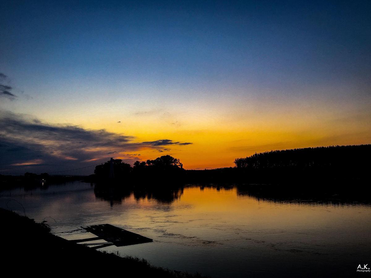 Laku noć  Foto: Andrea Cesar  Ključne riječi: Zalazak Drava Priroda