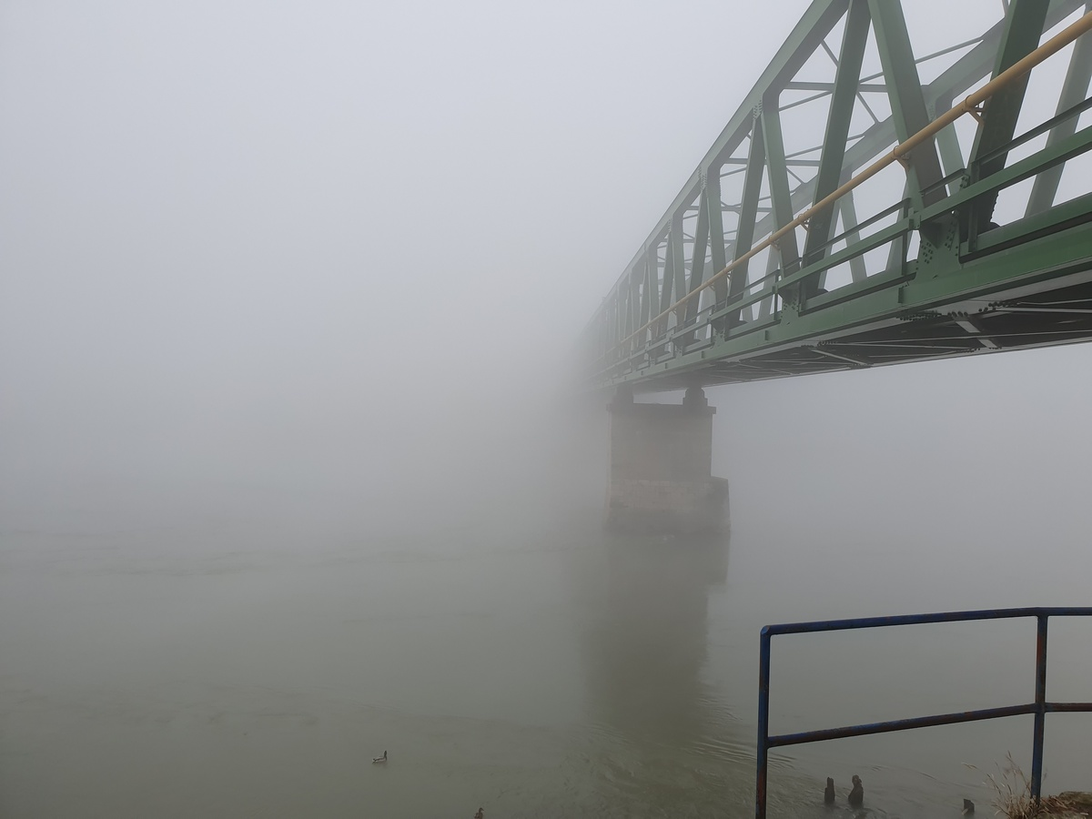 U magli  Foto: Mario Vuk  Ključne riječi: Most magla Drava