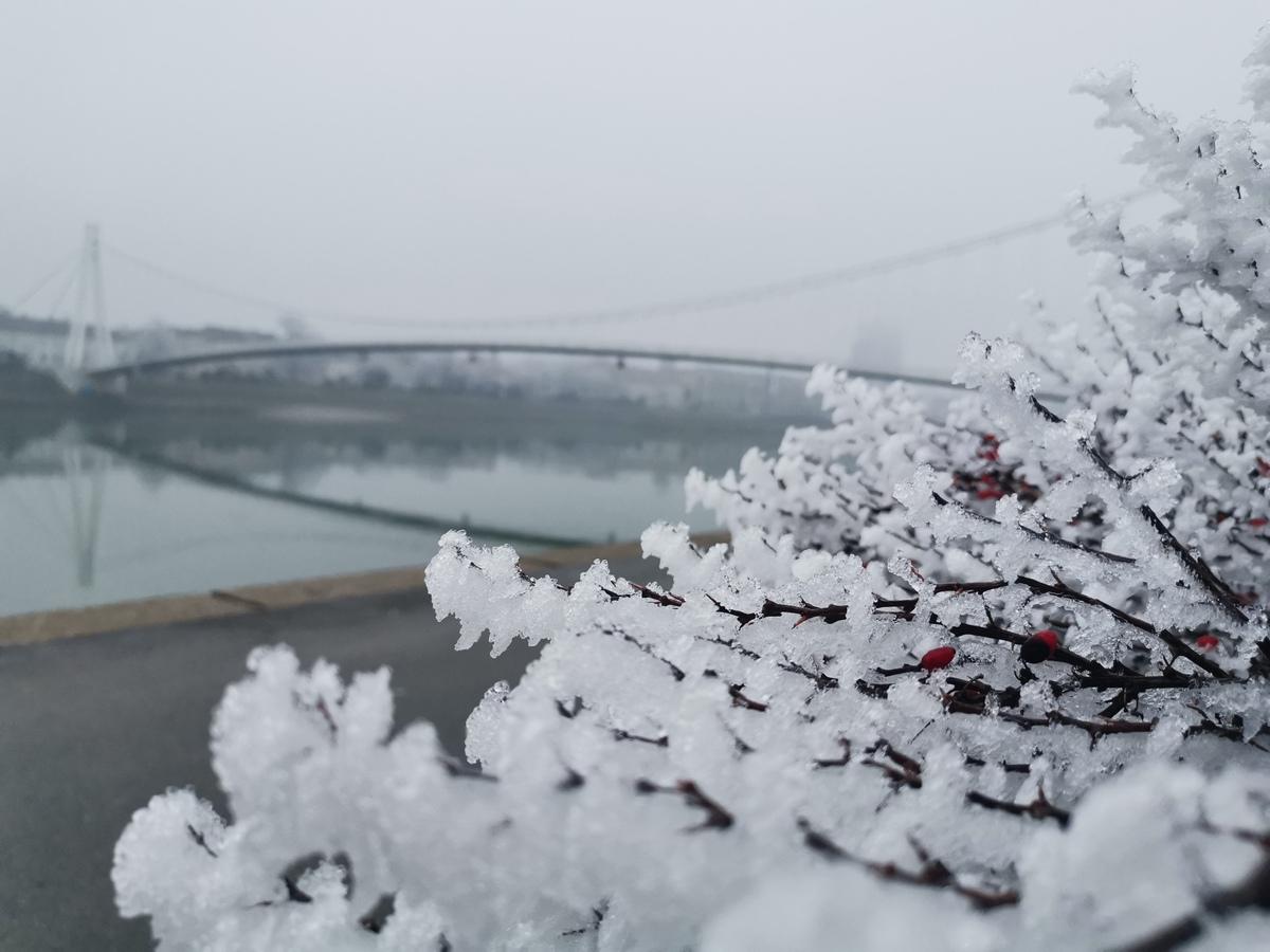 Zima  Foto: Ivana Mitrović  Ključne riječi: Zima Inje Most Drava