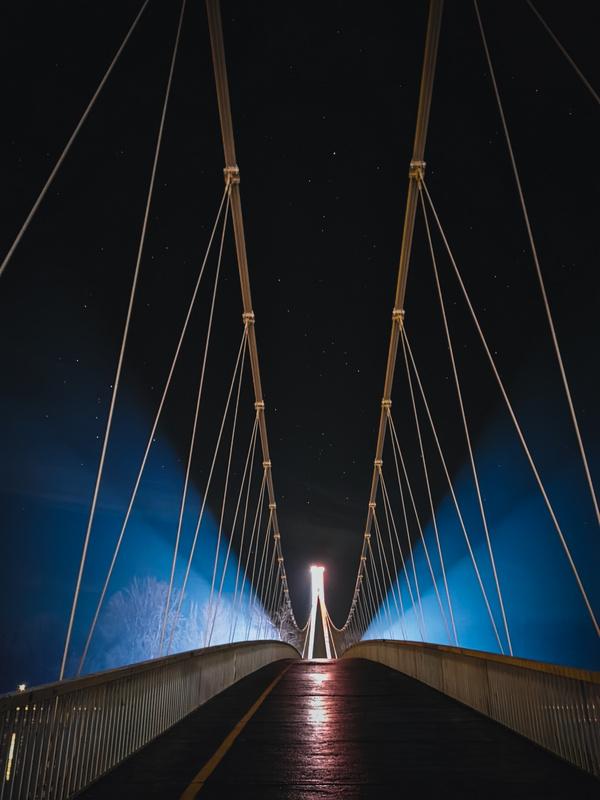 Pješački most  Foto: Kristijan Adrić  Ključne riječi: Noc Pjesacki Most