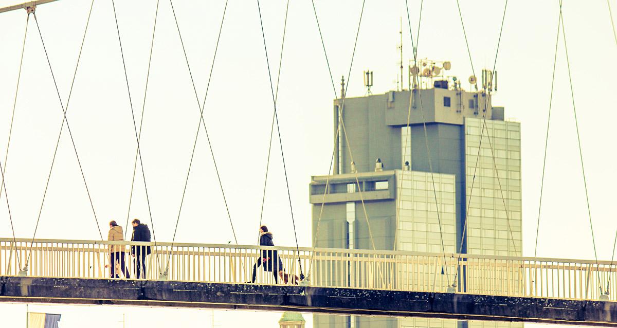 Ususret proljeću  Foto: Vedrana Nikolić  Ključne riječi: setnja most hotel drava
