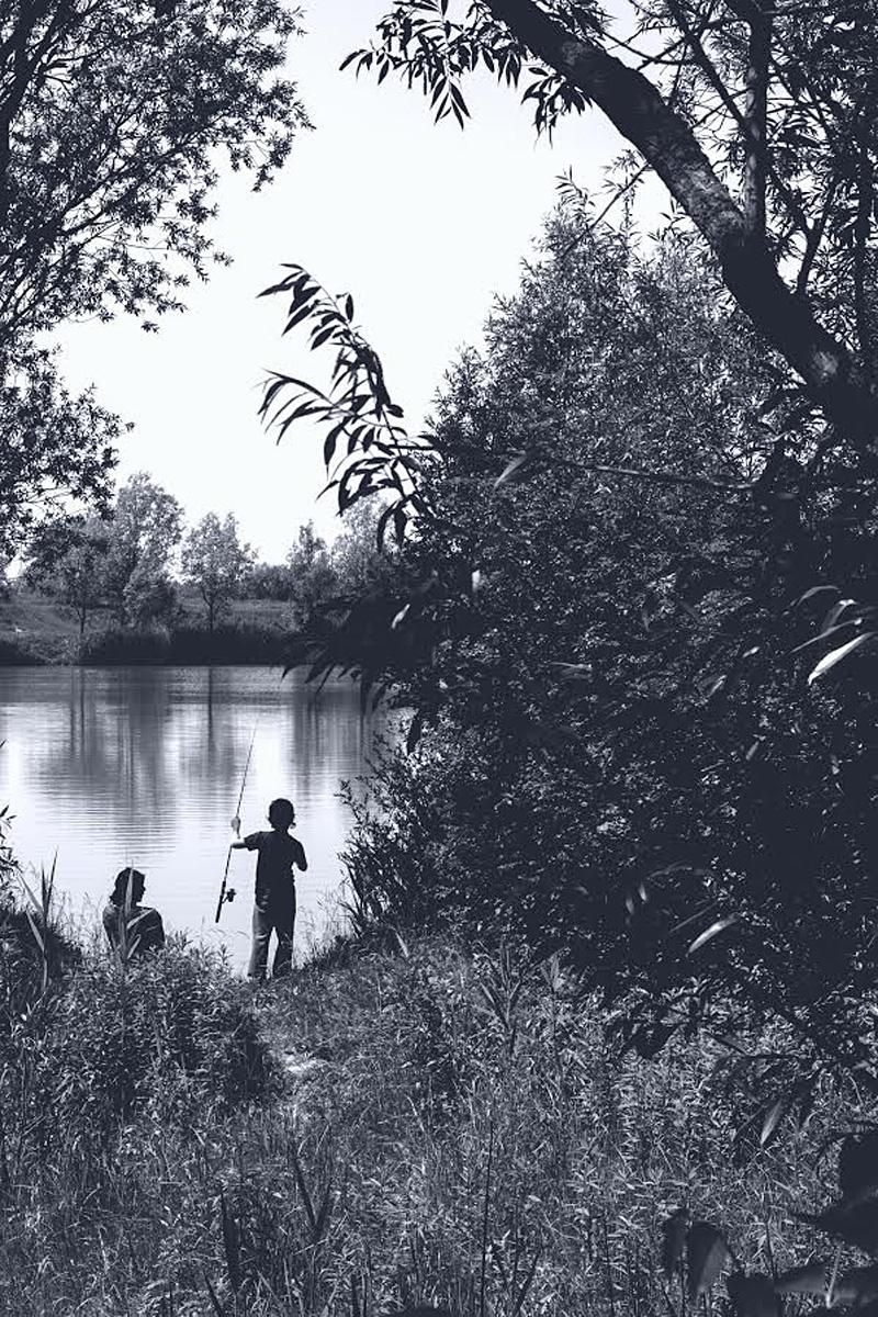 Pogled na bajer  Foto: Mak Nađ  Ključne riječi: bajer voda jug c&b b&w crno bijelo