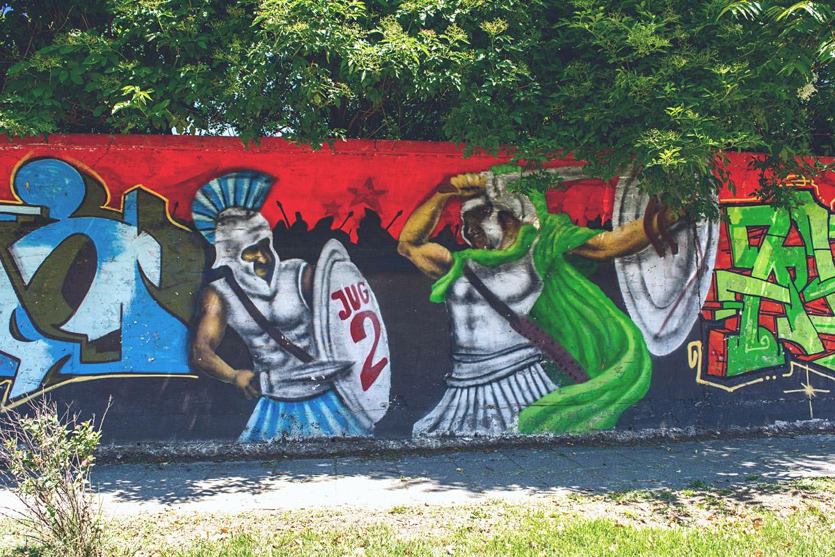 Šećeranski zid  Foto: Mak Nađ  Ključne riječi: secerana seceranski zid