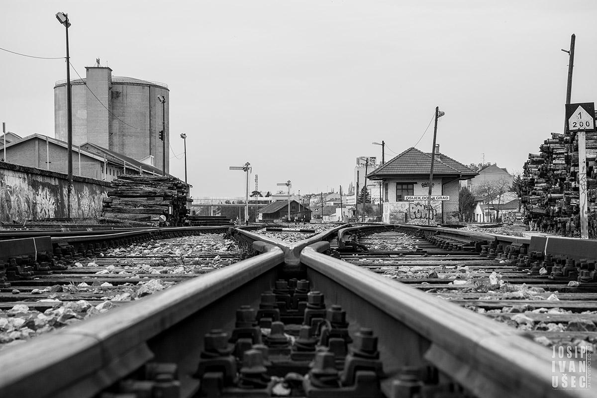 Donji grad  Foto: Josip Ivanušec  Ključne riječi: donji grad pruga
