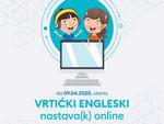 Vrtićki engleski – nastav(k) online